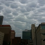 Mammatus Clouds Downtown – May 11, 2014