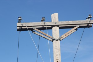 Close-up image of the top of a pole
