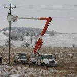 rural crews working ice storm